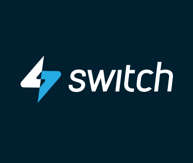 Switch Logo Reversed with blue